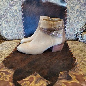 Alex Marie Tan Suede Booties - size 7.5